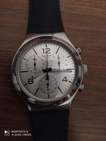 Флипчарты черная магнитная поверхность - Кыргызстан: Серебристые Мужские Наручные часы Swatch