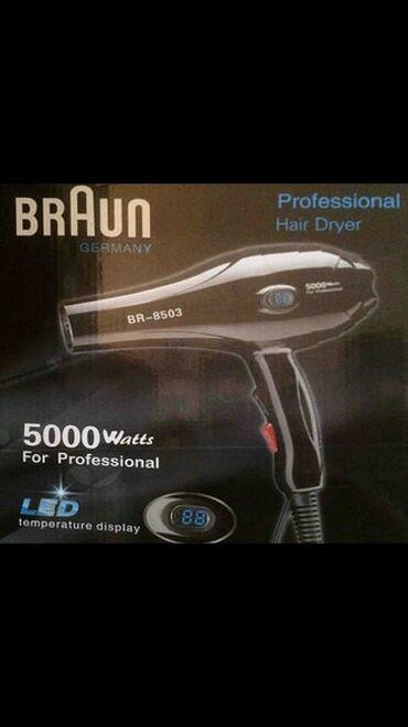"""Fen """"BrAun BR-8503"""" Hava feni Braun5000 w gücüBaşlıqların sayı"""