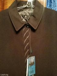 Новое пальто. турция. 54 размер. натуральный кашемир. черного цвета в Лебединовка
