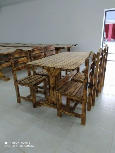 pulsuz bag evleri - Azərbaycan: Yuksek kefiyyetli Şam ağacindanMasa : kafe, restoran Bağ evleri üçün