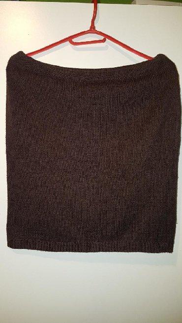 Braon - Srbija: Suknjica braon,original,trikotaza,malo nosena,kvalitetna,velicina M