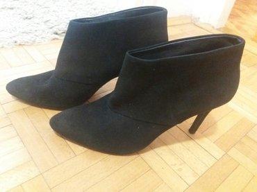 Zarine cipele od prevrnute koze u crnoj boji,nenosene. Broj 40 - Kragujevac
