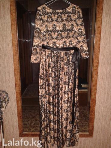 коричневое платье в пол в Кыргызстан: Продаю платье в пол, одевала один раз, в идеальном состоянии, размер