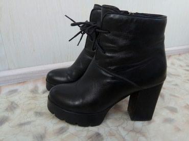 Ботинки на каблуке. Колодка очень в Бишкек