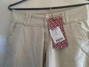 Lanene pantalone - Srbija: Nesal lanene pantalone. NOVO . sa etiketom. vel L