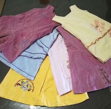 Dečija odeća i obuća - Vranje: Haljinice 6 kom sve za 1700 din, za uzrast 2-4 godina, nošene neke
