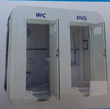 WS kabinasıWC 150*150*240, tək wc və ya wc+duş ola biler. Akril