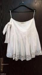 Bela suknja,broj 40,odlicno stoji,traka moze kao pojas,moze sa - Pozega
