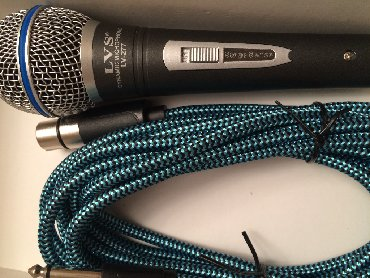 Mikrofonlar Azərbaycanda: LVS mikrafon teze qutuda orginal kabel ile 5 metr uzunluq