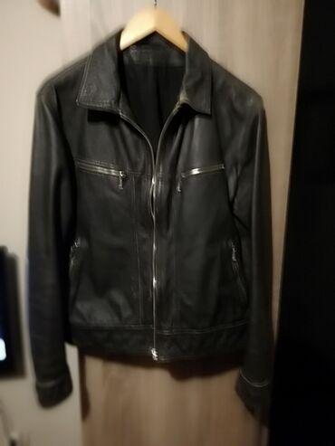 Savršena Melirana muška kožna jakna, ide uz telo Vrhunski kvalitet