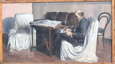 Ленин в Смольном, картина Холст.Масло размер 1.5-2.5 метров, работа