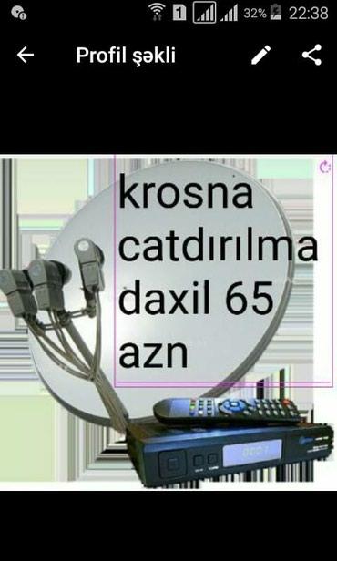 Bakı şəhərində Krosna krosnu kredit ev anten sputnik televizor telefon peyk tv ev