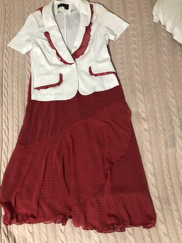 Платье с костюмом в отличном состоянии!!! Г. Ош