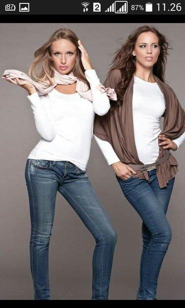Kardigan kao braon na slici samo u beloj boji ginna fashion novo - Backa Palanka