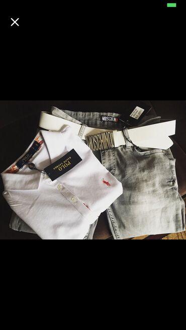 футболка-турция в Кыргызстан: Футболка поло (Турция)-1000 сом (xl;xxl) джинсы -25 размер 1450