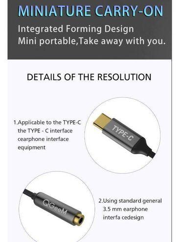USB C - разъем для наушников 3,5 мм Адаптер типа C - вспомогательный