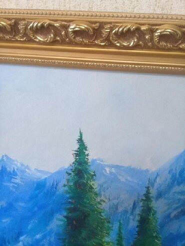 репродукция художников в Кыргызстан: Продам картину маслом, автор местный художник. Размер картины 1м
