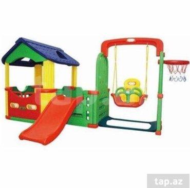 Bakı şəhərində Игровой домик,горка,Качели,баскетбольное кольцо  Детский игровой ко