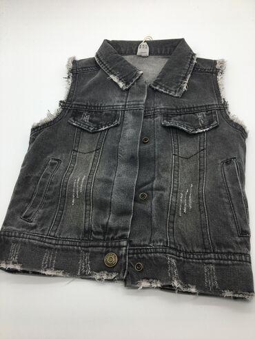Детская джинсовая жилетка из качественного материала Производство Гуан