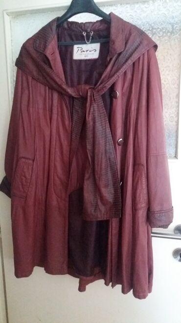 Ski jakne - Srbija: KOZNA JAKNANa prodaju zenska kozna jakna poput pelerine, kupljena u