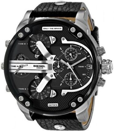 Diesel Men's Mr Daddy 2.0 Quartz Stainless Steel and Leather
