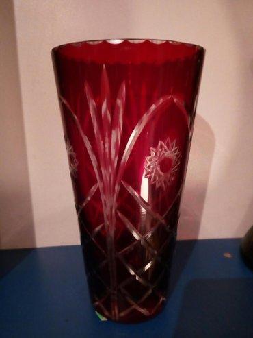 Rubin kristal vaza,ima sitno okrznuce na rubu,videti slike,visina 20cm - Belgrade
