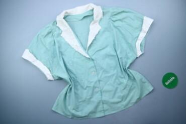 Жіноча блуза з комбінованими кольорами, р. 4XL   Довжина: 63 см Напіво