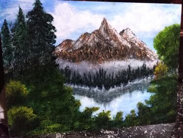 Slika Planina radjena uljanim bojama dimenzija 52x39Pogledajte