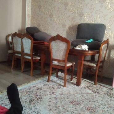 шредеры 6 на колесиках в Кыргызстан: Стол ореховый с 6 стульями в отличном состоянии. Длина 3.5 мширина