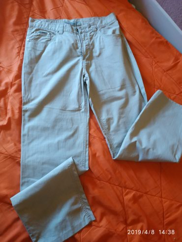 Pantalone zenske,pamuk lan.Vel 34 sirina u struku je 42 cm Italianske - Belgrade