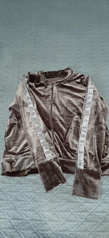 Домашний костюм 2ка велюр, толстовка. Размер 44-46 все за 700сом
