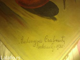 Aleksandra - Srbija: Prodajemsliku ulje na platnu (original) aleksandre slavnic iz 1938god