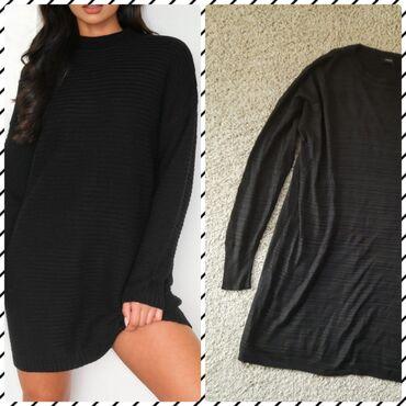 LINDEX oversized haljina. Veličina od S i M. Zift crne boje. Može da