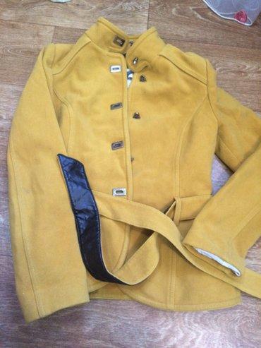 модное яркое пальто:-) с антикражным карманом;) очень тёплая в Кок-Ой