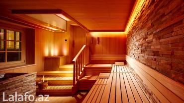 Bakı şəhərində Sauna tikintisi, rus hamamı