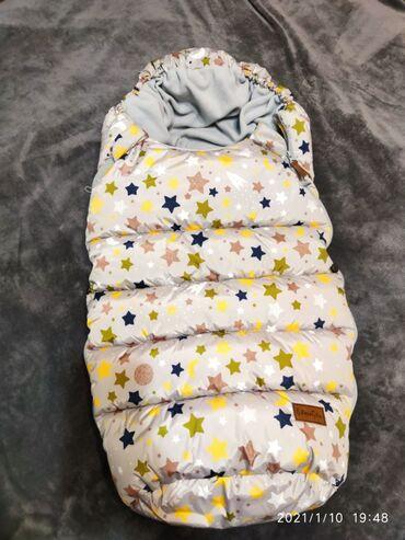 детский сумкалар в Кыргызстан: Продаем новую муфту (детский конверт) на коляску или на санки. Возраст
