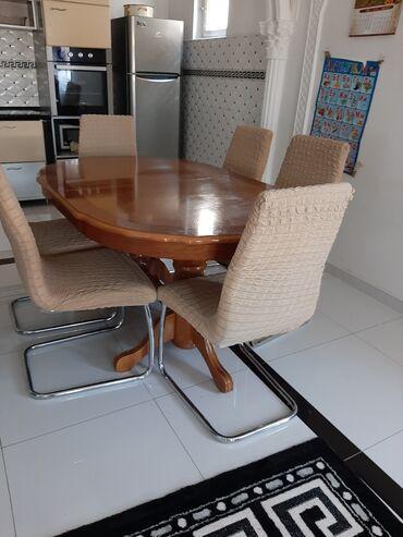 Kuća i bašta - Kostolac: Prekrivaci za stolice u brao boji 6 komada