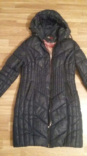 Куртка удлиненная, женская , зимняя б/у,цвет темно-синий,размер 46-48. в Бишкек