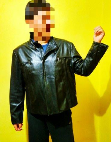Куртка кожаная, мужская. Осень - весна. Короткая. Размер 3XL в Бишкек
