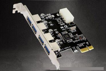 Плата PCI-E Express Card -высокоскоростной адаптер USB 3.0 не требует