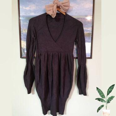Haljina kolena - Srbija: Siva haljina lepo očuvana, M vel. Može lepo da se kombinuje na ravnu o