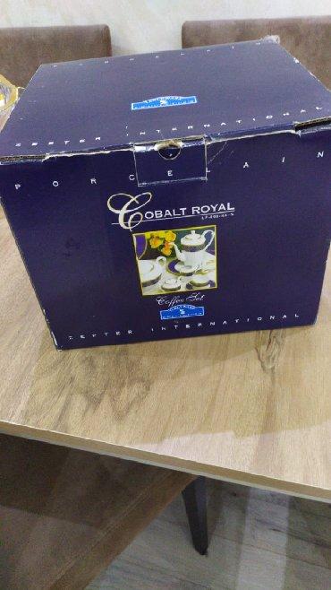 Mətbəx ləvazimatları - Azərbaycan: Zepter Cobalt Royal  6 блюдец, 6 чашек 1 чайник Молочница Сахарница