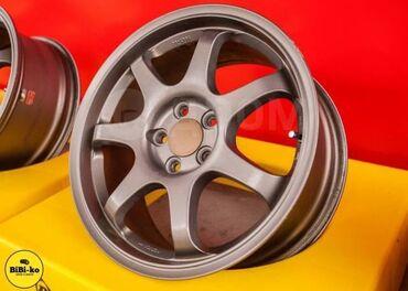 Проточка дисков без снятия - Кыргызстан: Продаю литые диски A-Tech Final Speed Eraser R16 5*100 с резиной