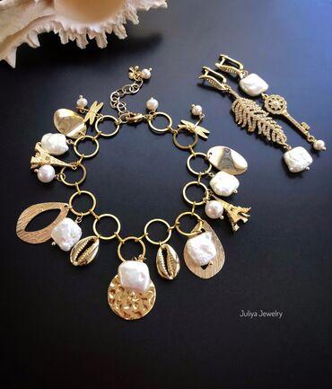 Цепочку и браслет - Кыргызстан: Комплект ручной работы. Авторские украшения Juliya Jewelry.1)