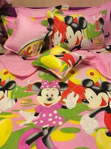 Pamučna posteljina, dečiji dezeniSadržaj seta: Materijal: 100%
