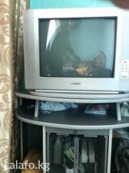 Теливизор с подставкой. Цветной, работает хорошо. Только пульт пропал! в Бишкек