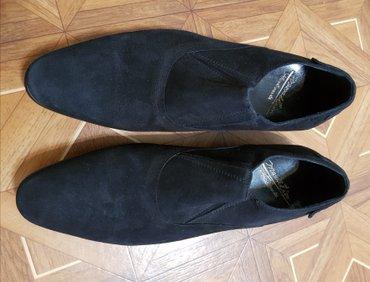 туфли мужские Турция, натуральная замша, цвет чёрный, р-р 39-40, новые в Бишкек