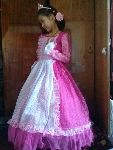 Личные вещи - Военно-Антоновка: Продаю нарядное платье розового цвета для 10-12 лет. Платье очень