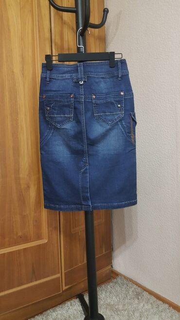 Юбка карандаш джинс НОВАЯ размер М 44-46 джинсовая