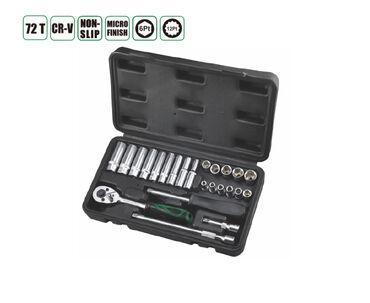 Набор инструментов 24 прс, 24шт 1/4 комплект, * 11шт 1/4 гнезд5. 13 мм